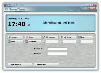 NovaTime Bildschirmterminal