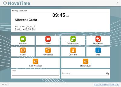 NovaTime Browserterminal