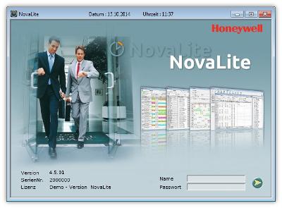 NovaLite Anmeldemaske