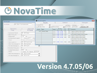 NovaTime Version 4.7.05/06