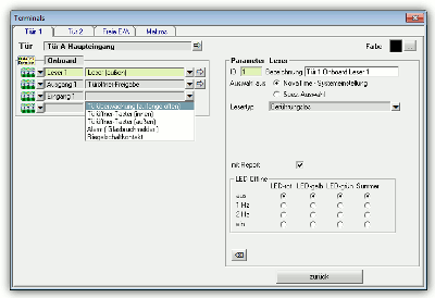 NovaTime Zutrittskontrolle Makrosteuerung